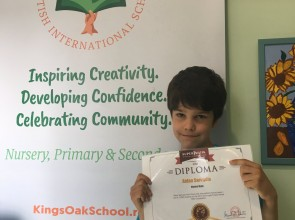 King's Oak pupil Aidan Saroudis takes first place in worldwide maths competition!